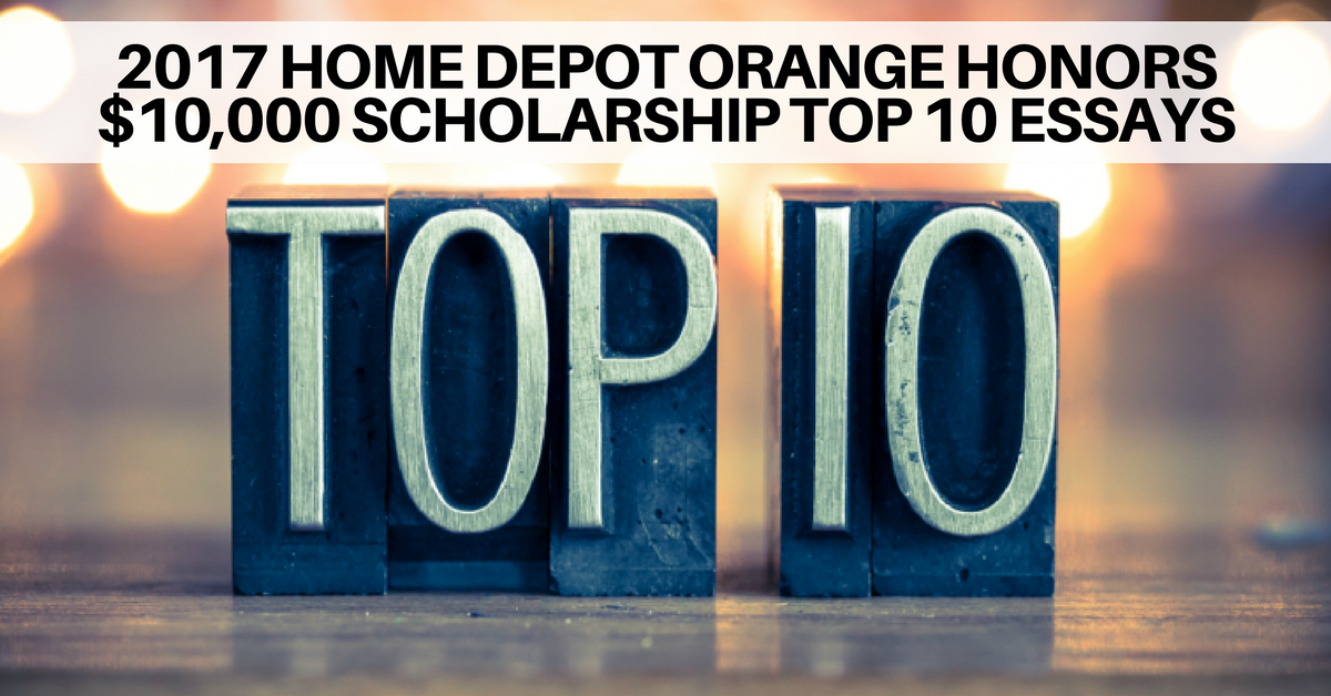 home depot orange honors scholarship top essays  2017 home depot orange honors 10 000 scholarship top 10 essays military spouse