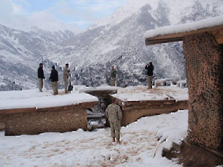 Combat Outpost Keating in the snow of Afghanistan. (Photo: U.S. Army)
