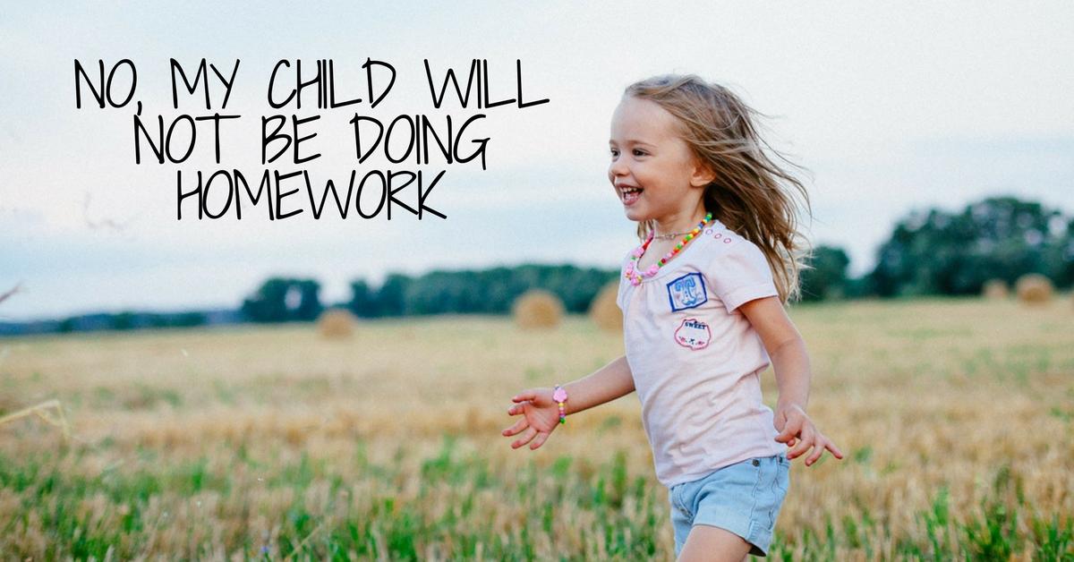 Do kids do homework not turn